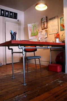 20 tips and tricks for a clean home page 14 of 19 diys and desk made from plumbing pipe and wood watchthetrailerfo