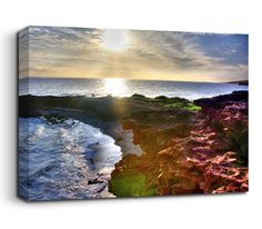 This Alien Shore canvas print makes creative use of colour to alter your perception of a beautiful rocky seashore. Muted reds and luminous greens stand out against the tranquil sky and sea, making it seem as though it is an alien world. Image courtesy of a creative commons licence, from Steve Jurvetsojn on Flickr here - http://www.flickr.com/photos/44124348109@N01/3178736098/. You can read more about the CC-BY licence here - http://creativecommons.org/licenses/by/2.0/deed.en_GB