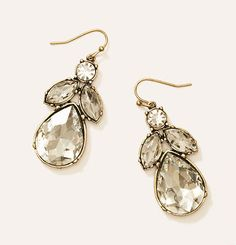 Cast crystal teardrop earrings - fall fashion - accessories - outfit inspiration - @LOFT