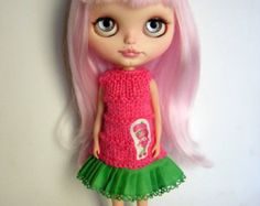 Nice dress for blythe custom doll