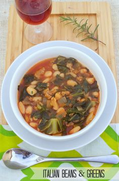 Simply Healthy Family: Classic Italian Beans and Greens  #SundaySupper #beans