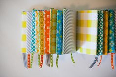 "Super-sweet handmade mini notebooks courtesy of The Girl on the Go blog.  The instructions are detailed, but you do need to use a sewing machine for the ""binding"" - RRM"