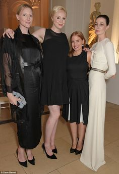 Well heeled bash: Model and presenter Jade Parfitt joined Gwendoline, Jessica and model Erin O'Connor