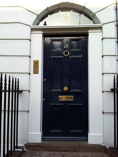 Blue door on pinterest for Navy blue front door