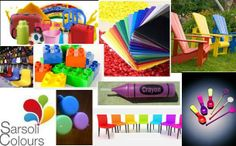 Plastic furnished products using colour masterbatches available range at Sarsoli Colours