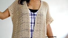 vacation cotton light weight kimono cardigan free crochet pattern