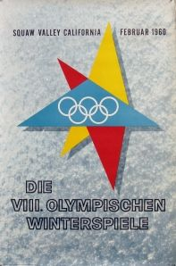 1960 Squaw Valley Olympics poster  in German.