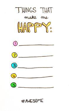 Free Printable | things that make me happy | Olya Schmidt