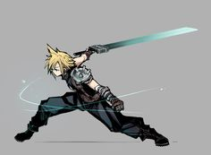 Every geek board needs Final Fantasy love. Final Fantasy Cloud, Final Fantasy Artwork, Final Fantasy Characters, Fantasy Love, Final Fantasy Vii Remake, Fantasy Series, Fantasy World, Character Poses, Character Art
