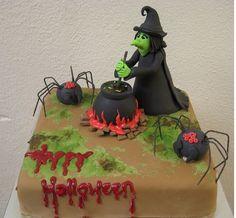 Halloween Cakes | Square witch halloween cake image.JPG