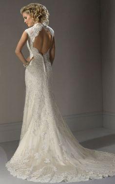 lace wedding dress open back
