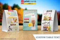 Project consisted of designing elaborate and creative table tents to showcase and help increase sales in general. Alpine Restaurant, Oreo Cream Pies, Table Tents, Tent Cards, Restaurant Tables, Custom Boxes, Milkshake, Free Design, Prints