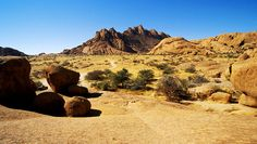 Up Close the Spitzkoppe in Namibia