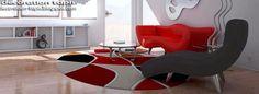 impressionnant  tapis ovale salon