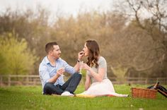 Lucy and Dan in Richmond Park during their engagement photoshoot