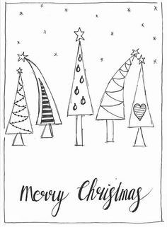 Christmas Doodles, Christmas Cards To Make, Christmas Tag, Xmas Cards, Diy Cards, Holiday Cards, Christmas Crafts, Christmas Decorations, Watercolor Christmas Cards
