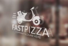 Pizza Logo Template by josuf on Creative Market
