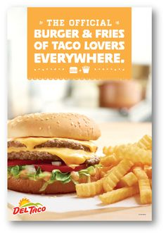 Yes, Del Taco's burgers & fries ARE fan favorites.  #DoubleDel #CrinkleCutFries #InTheKnow Burger And Fries, Good Burger, Burgers, Del Taco, Eat Better, Best Food Ever, Eating Well, Cravings, Tacos