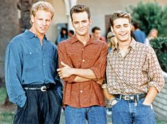 Ian Ziering, Luke Perry and Jason Priestley on Beverly Hills 90210