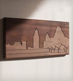I'd love to have one of these of all my favorite cities! --Austin Skyline Wood Art by Dave Marcoullier
