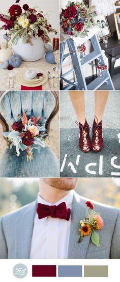 niagara and marsala wedding color ideas for 2017 autumn