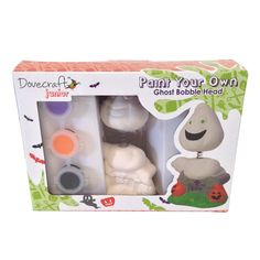 Great for little hands with big imaginations, the Dovecraft Junior 'Paint Your Own' range has everything you will need to create frightening fun craft projects. The Dovecraft Junior Paint Your Own 'Ghost' Ceramic Character Kit contains one ceramic figu. Craft Kits, Craft Supplies, Craft Projects, Book Crafts, Fun Crafts, Wooden Wind Chimes, Scratch Art, Gift Wrapping Services, Disney Frozen Elsa