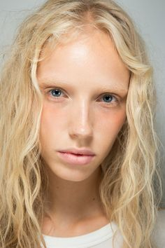 See beauty photos for Alexander Wang Spring 2017 Ready-to-Wear collection. Model: Jessie Bloemendaal