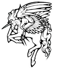 Mystical Pegasus TATTOO by ~bishounenhunter