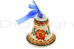 Polish Pottery Stoneware ORNAMENT BELL