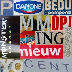 Voor MMD heb ik een foto colage moeten maken van verschillende lettertypes