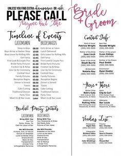 printable bridesmaid information sheet bridal party planning sheet