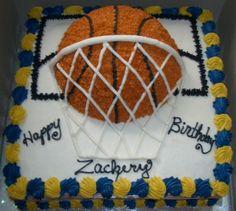 buttercream Basketball Cake