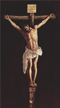 The Crucified Christ, Francisco de Zurbaran Spanish) Poster Print x Religious Paintings, Religious Art, Religious Images, Caravaggio, Francisco Zurbaran, Pontius Pilatus, Image Jesus, Cross Wallpaper, Wallpaper Quotes