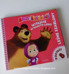 świat według moich dzieci: Masza i Niedźwiedź, leśne szablony
