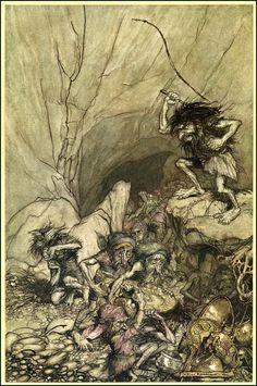 Arthur Rackham - Rhinegold 1910