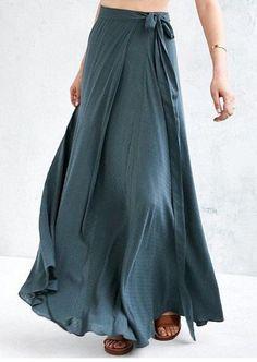 Maxi Wrap Skirt Bridesmaid Skirt Boho Beach Formal Dresses for Women Custom Skirt Long Maxi Skirt W #modetrends Long Maxi Skirts, Casual Skirts, Maxi Wrap Skirt, Chiffon Maxi Skirts, Long Summer Skirts, Maxi Skirt Formal, Maxi Skirt Boho, Womens Maxi Skirts, Midi Skirts