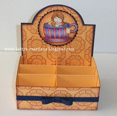 FREE tutorial Bettys-creations: Instructions Tea Gift Display