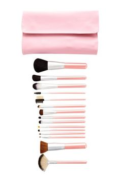 Pink 15 Piece Perfectly Brush Set by Crown Brush on @HauteLook