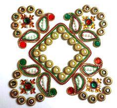 Rangoli Kundan Rangoli Indian Rangoli Diwali by JustForElegance
