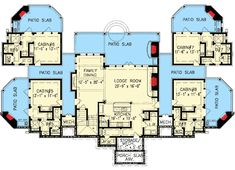 Couples Mountain Retreat - 15880GE floor plan - Lower Level