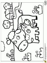 Coloriage Maman et Bébé Animaux sur Hugolescargot.com