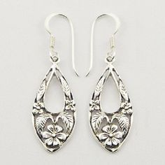 DESIGNER EARRINGS  with ANTIQUED SILVER FLOWER DESIGN NOW $22.95aus .....................With FREE SHIPPING WORLD WIDE.. SAVE THIS PIN OR BUY NOW FROM LINK HERE  http://www.ebay.com.au/itm/-/172551913063?ssPageName=ADME:L:LCA:AU:1123