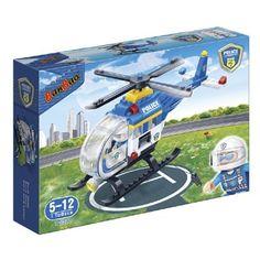 BanBao politiehelikopter 7008  De boeven zijn naar hun schuilplaats gekomen en laden de buit van hun laatste rooftocht uit. Deze speelgoed bouwset bestaat uit een 2 figuren en een helikopter.  EUR 11.99  Meer informatie