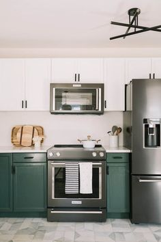 Elsie's Nashville BNB Kitchen Tour (Before + After) | A Beautiful Mess | Bloglovin'