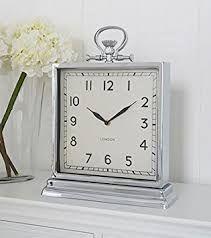 Image result for large silver mantel clocks