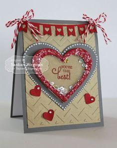 Скрапбукинг, рукоделие, Открытки-шейкеры ко дню Святого Валентина