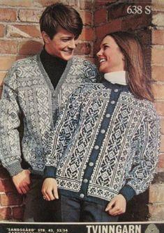 Click to enlarge Norwegian Knitting, Nordic Sweater, Folk Fashion, Fair Isle Knitting, Cool Sweaters, Nordic Style, Vintage Knitting, Knitting Patterns, Knitting Ideas