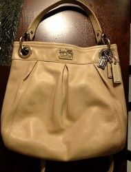 COACH MADISON Leather Hippie Crossbody handbag beige