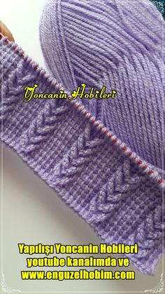 Cable Knitting Patterns, Crochet Doily Patterns, Knitting Designs, Tunisian Crochet Stitches, Knitting Stitches, Baby Knitting, Crochet Sweater Design, Herringbone Stitch, Crochet Instructions