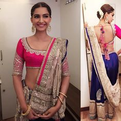 in traditional and timeless anuradha vakil for tarak mehta and jewels by prem ratan dhan payo pr d p mai thi li Sonam Kapoor, Indian Wedding Outfits, Indian Outfits, Indian Clothes, Indian Attire, Indian Wear, Indian Style, Lehenga Gown, Anarkali Suits
